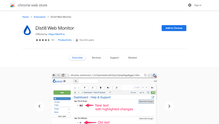 download Distill chrome extension