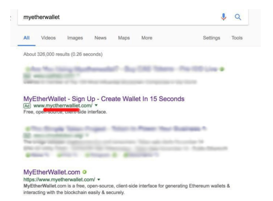 Phishing google ad