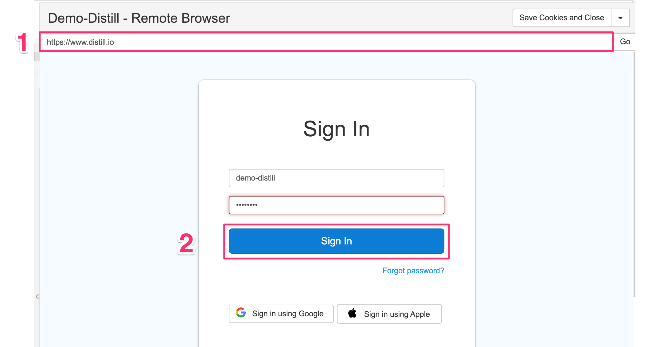 remote browser authentication